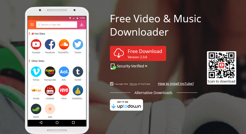 InsTube is free for downloading