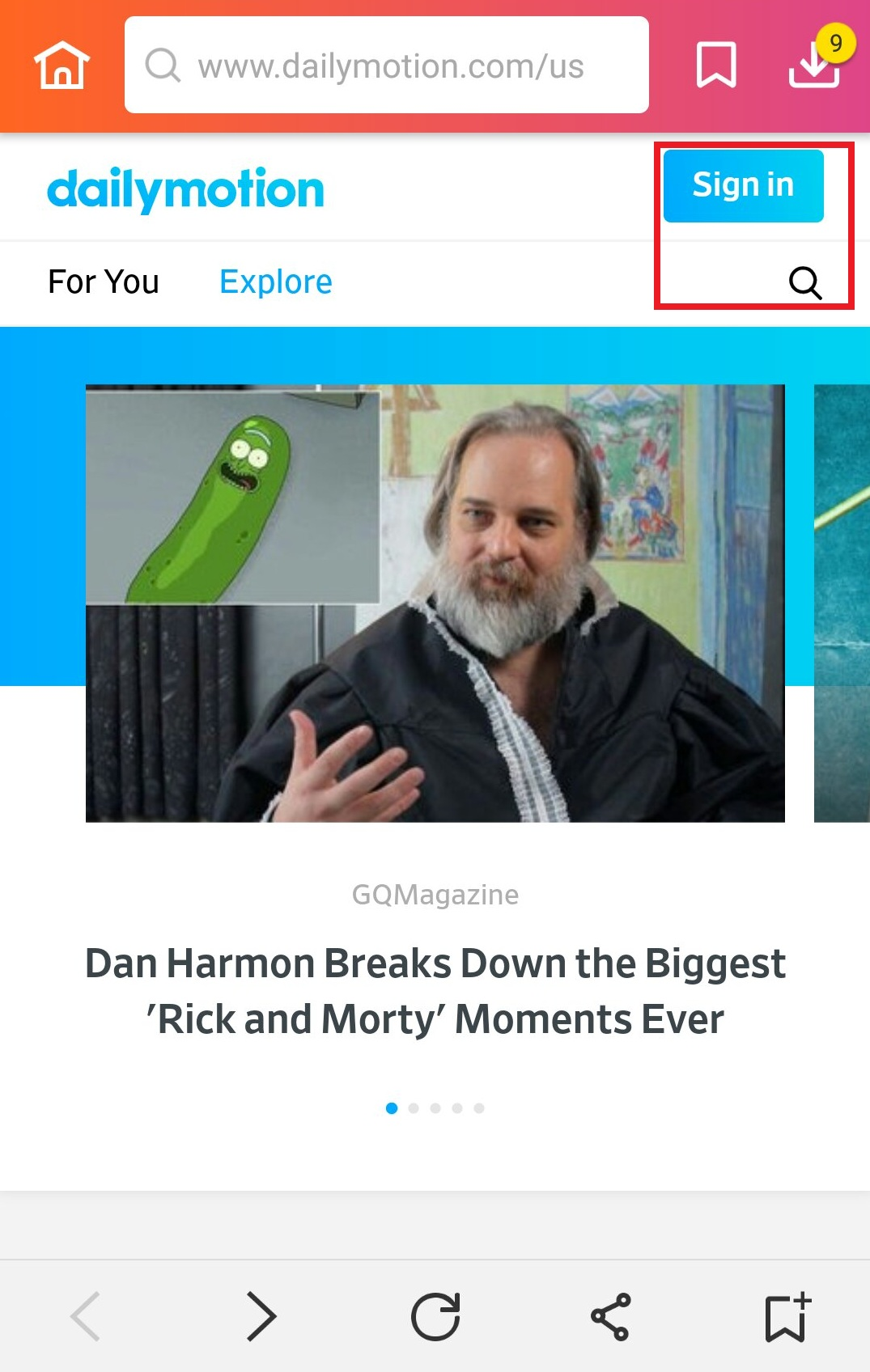find video in Dailymotion site