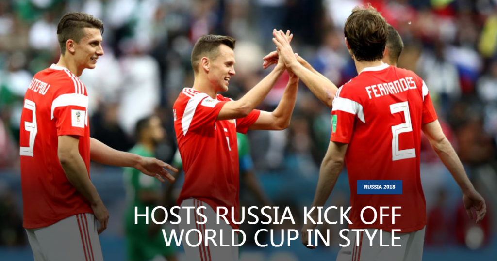 2018 FIFA World Cup is held in Russia