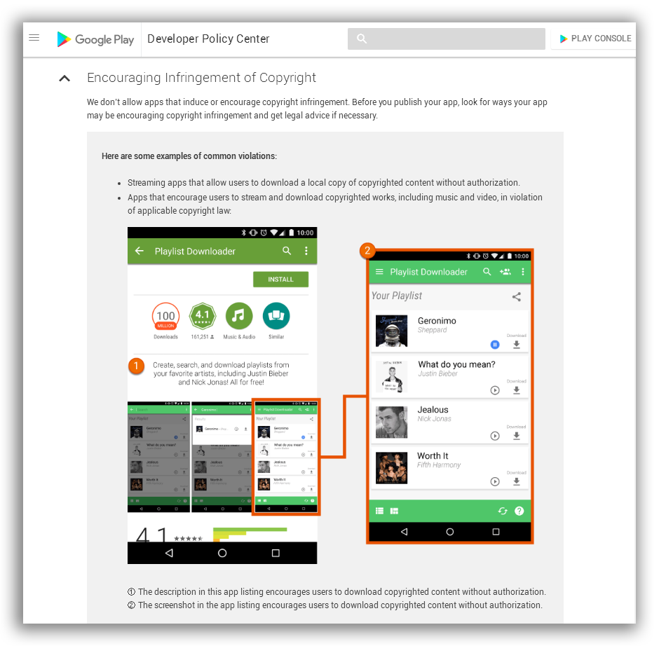 Downloader like SnapTube has violated Google Play Policy