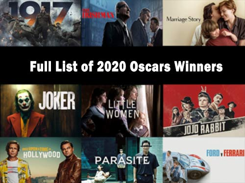 Oscars 2020 winners nominations list